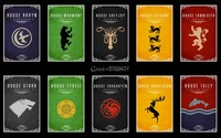 Game Of Thrones house crests wallpaper 1920x1200 jpg