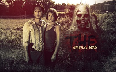 Glenn and Maggie Greene - The Walking Dead wallpaper