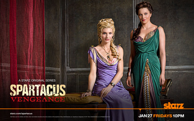 Ilithyia and Lucretia - Spartacus: Vengeance wallpaper