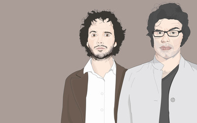Jemaine and Bret - Flight of the Conchords wallpaper