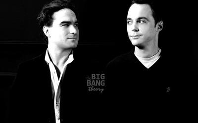 Leonard and Sheldon wallpaper