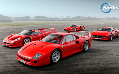 Red Ferraris in Top Gear wallpaper