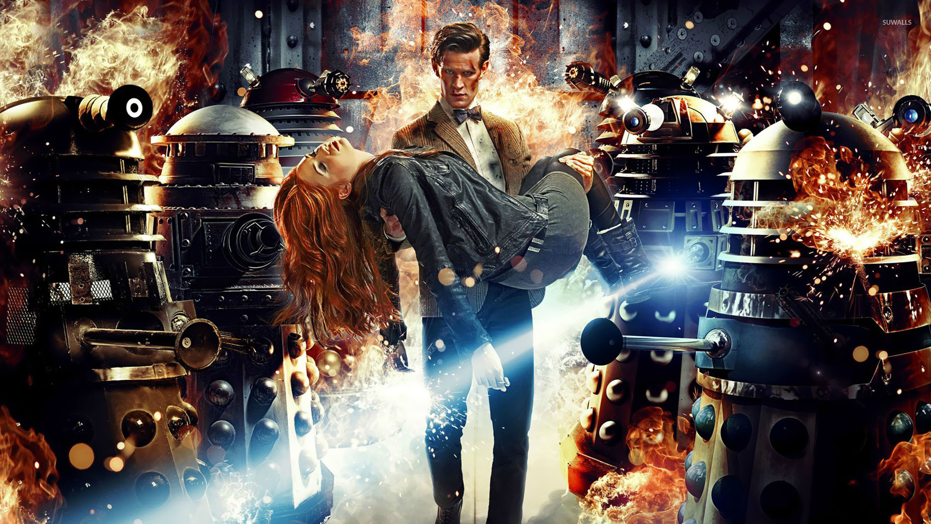 The Doctor And Amy Pond Doctor Who Wallpaper Tv Show
