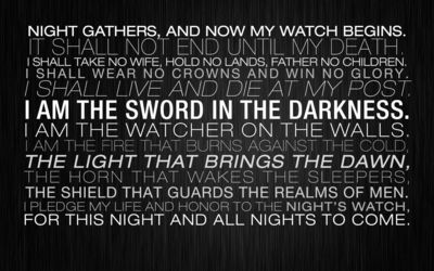 The Night's Watch oath wallpaper