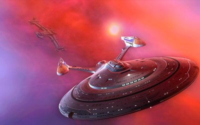 USS Enterprise from Star Trek wallpaper