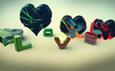 Broken hearts wallpaper