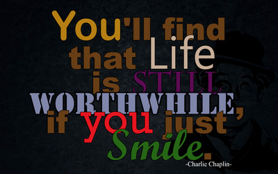 Charlie Chaplin quote wallpaper