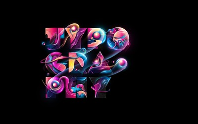 Colorful Typography wallpaper
