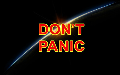 Don't panic [2] Wallpaper