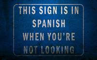 Funny spanish-english sign wallpaper 1920x1200 jpg