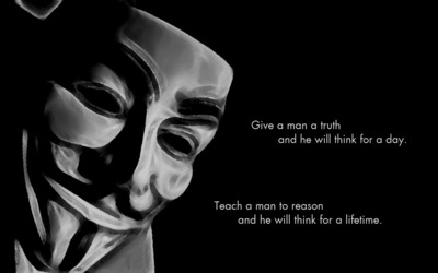 Give a man a truth... wallpaper