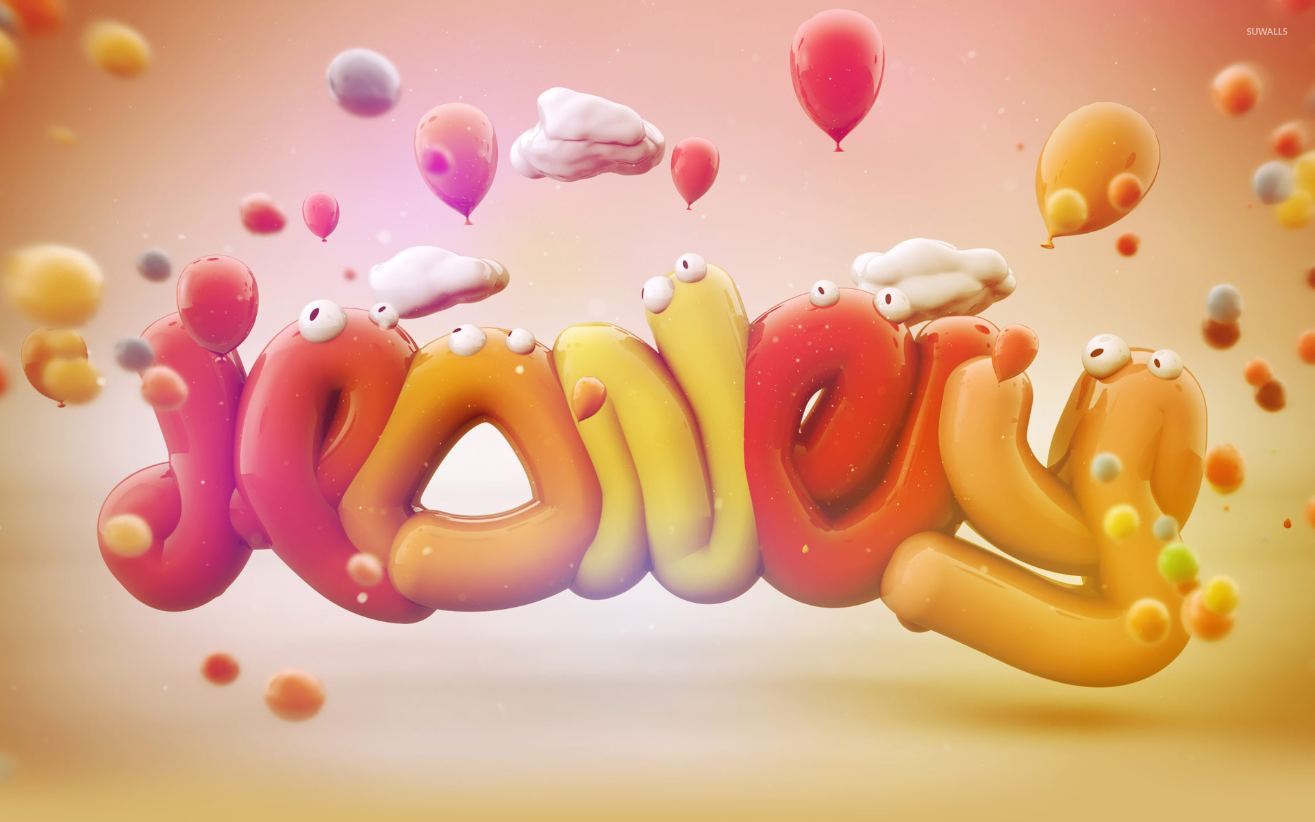 Love Jelly Wallpaper : Jelly worms wallpaper - Typography wallpapers - #19228