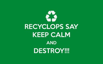Keep calm and destroy wallpaper
