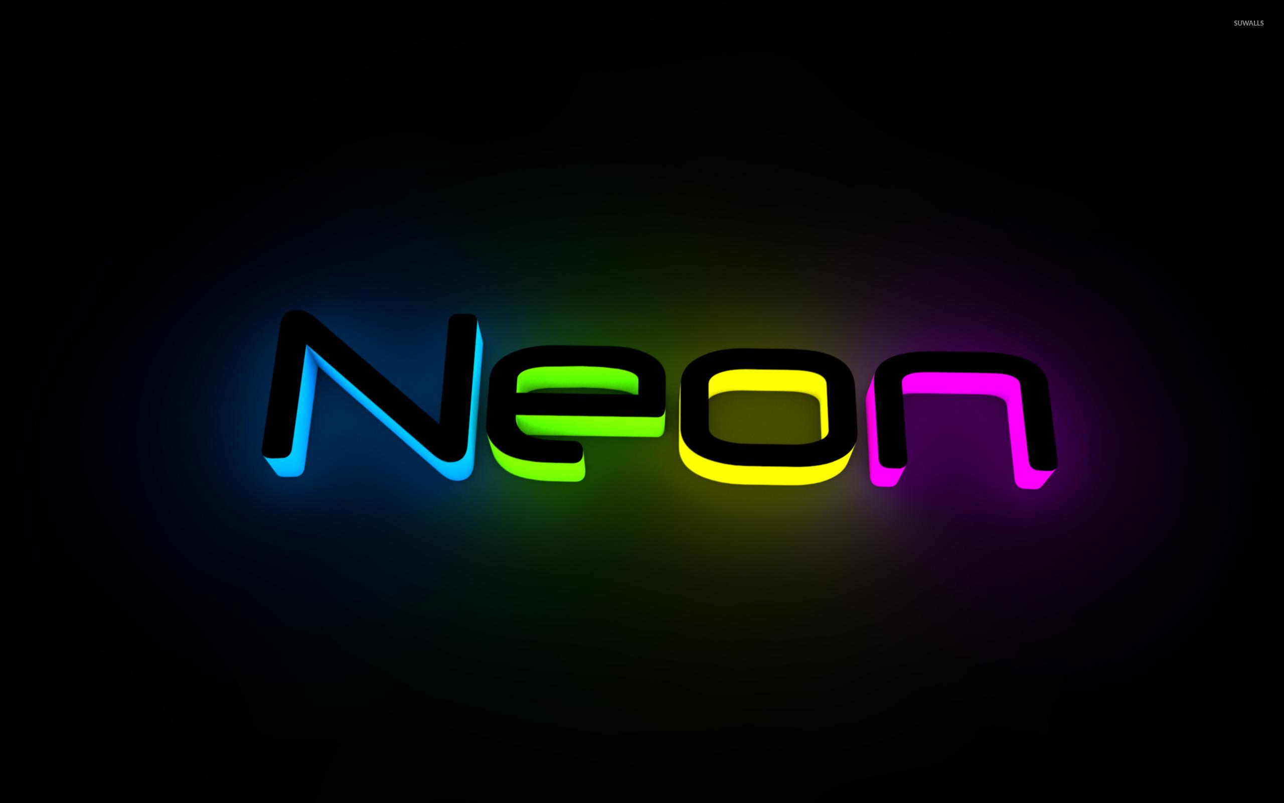 Neon wallpaper Typography wallpapers 17889