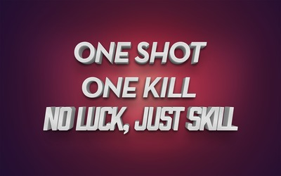 One shot, one kill wallpaper