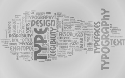 Rocket shaped from different words wallpaper