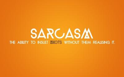Sarcasm wallpaper