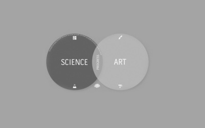 Science combined with art is progress wallpaper