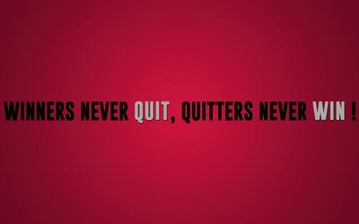 Winners vs quitters wallpaper