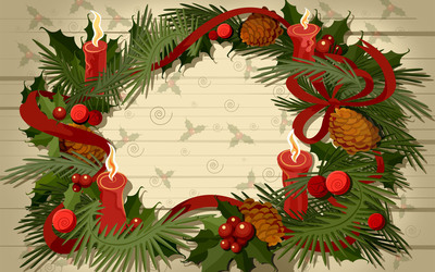 Advent wreath wallpaper