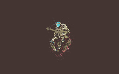 Astronaut playing the guitar wallpaper
