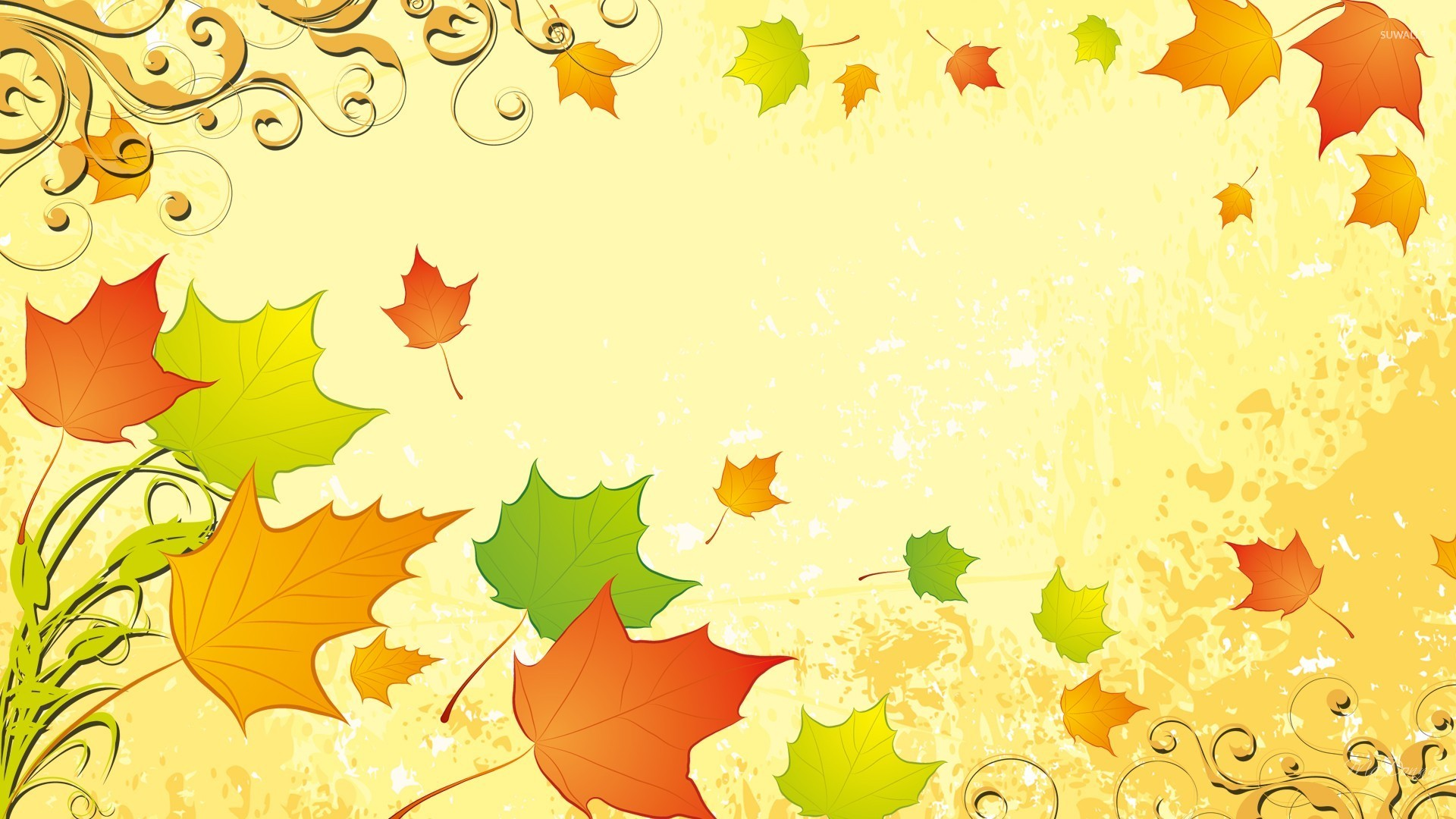 Autumn leaves [11] wallpaper Vector wallpapers