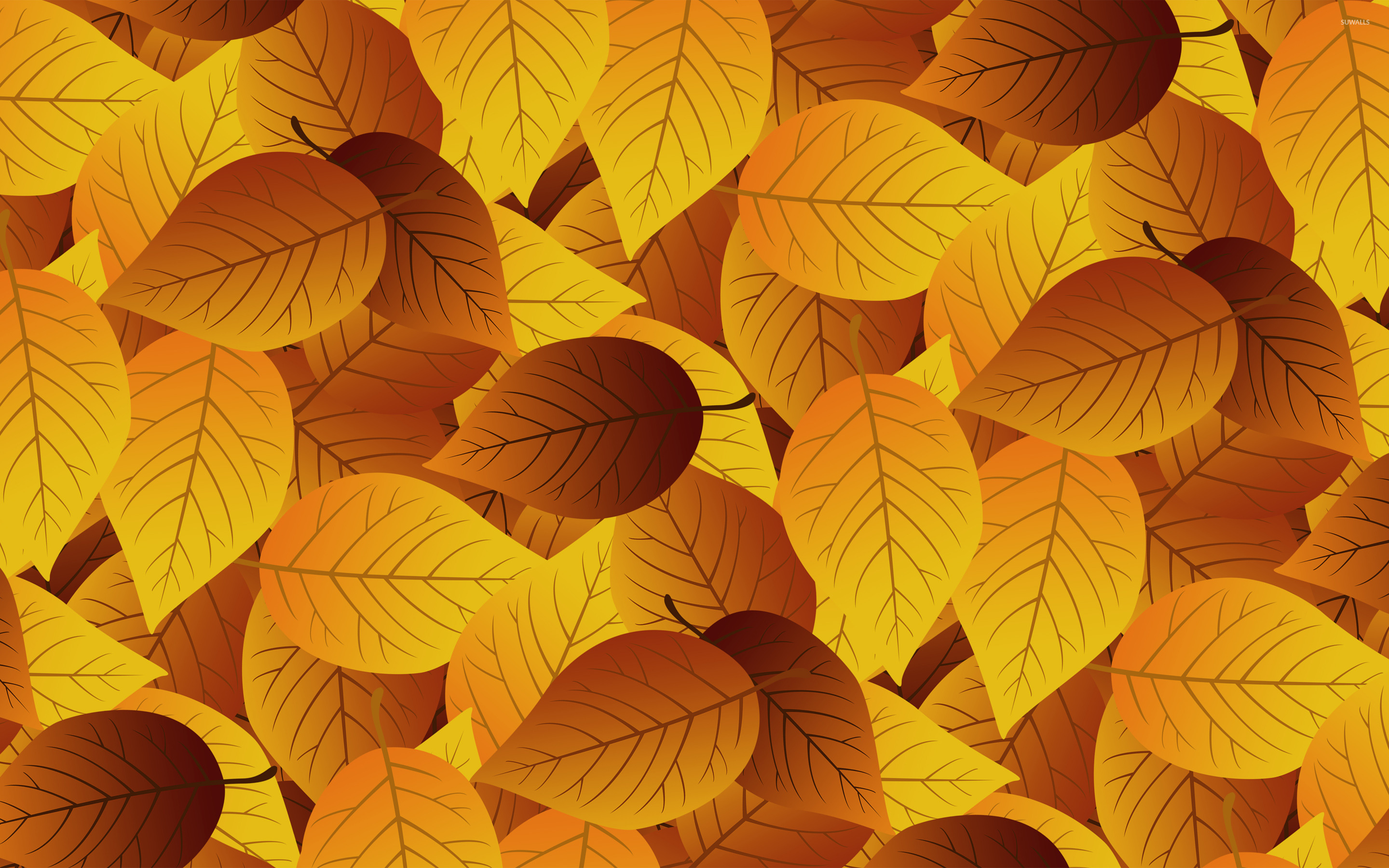 Autumn leaves [13] wallpaper Vector wallpapers