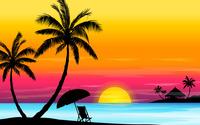 Beach sunset wallpaper 1920x1200 jpg