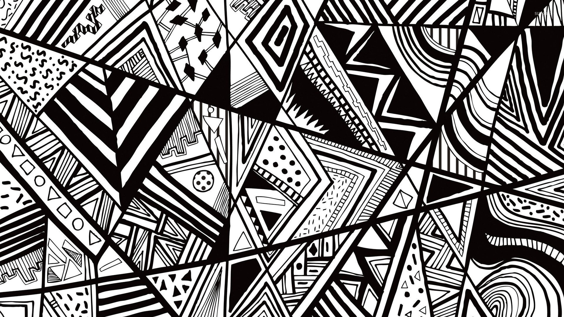 Black and white doodle wallpaper vector wallpapers 23874 for Line drawing wallpaper
