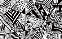 Black and white doodle wallpaper 2560x1600 jpg