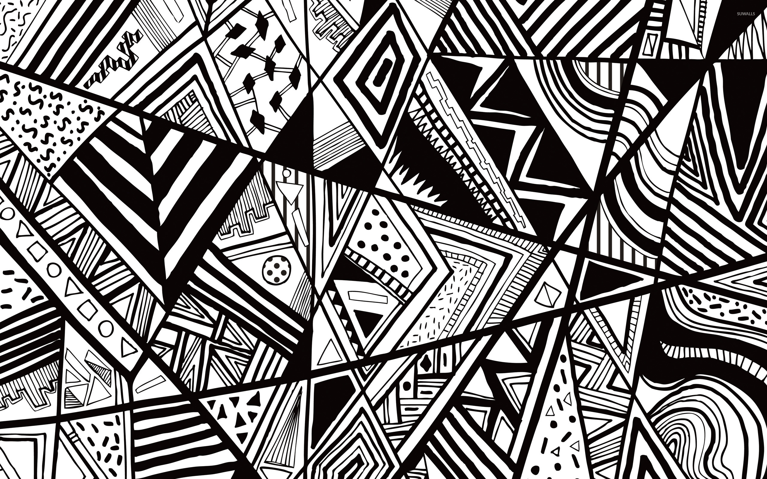 black and white doodle wallpaper