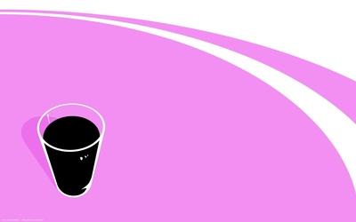 Black drink on a purple table Wallpaper