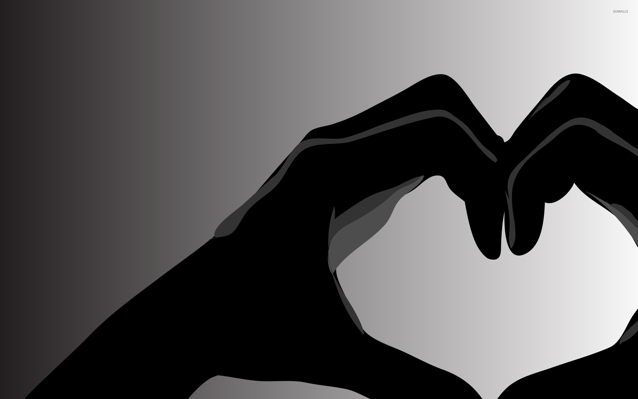 Black love wallpaper - Vector wallpapers - #45423
