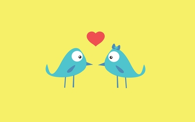 Blue bird love wallpaper