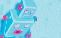 Blue robot [2] wallpaper 2880x1800 jpg