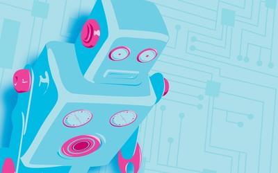 Blue robot [2] wallpaper