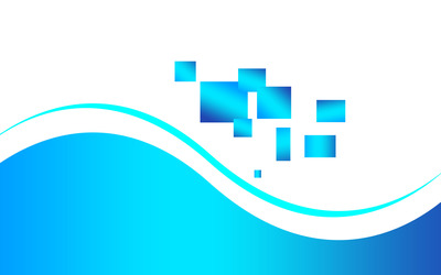 Blue squares and waves Wallpaper