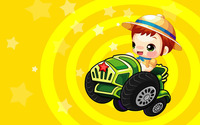 Boy in tractor wallpaper 1920x1200 jpg