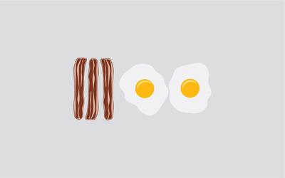 Breakfast wallpaper