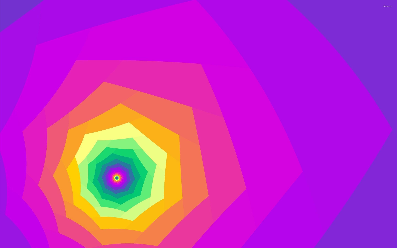 Bright Colored Tunnel Wallpaper