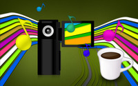 Camera and coffee wallpaper 1920x1200 jpg