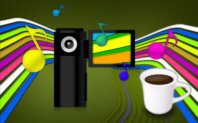 Camera and coffee wallpaper