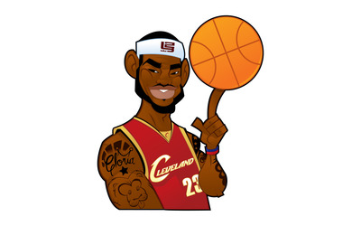 Cartoon LeBron James wallpaper