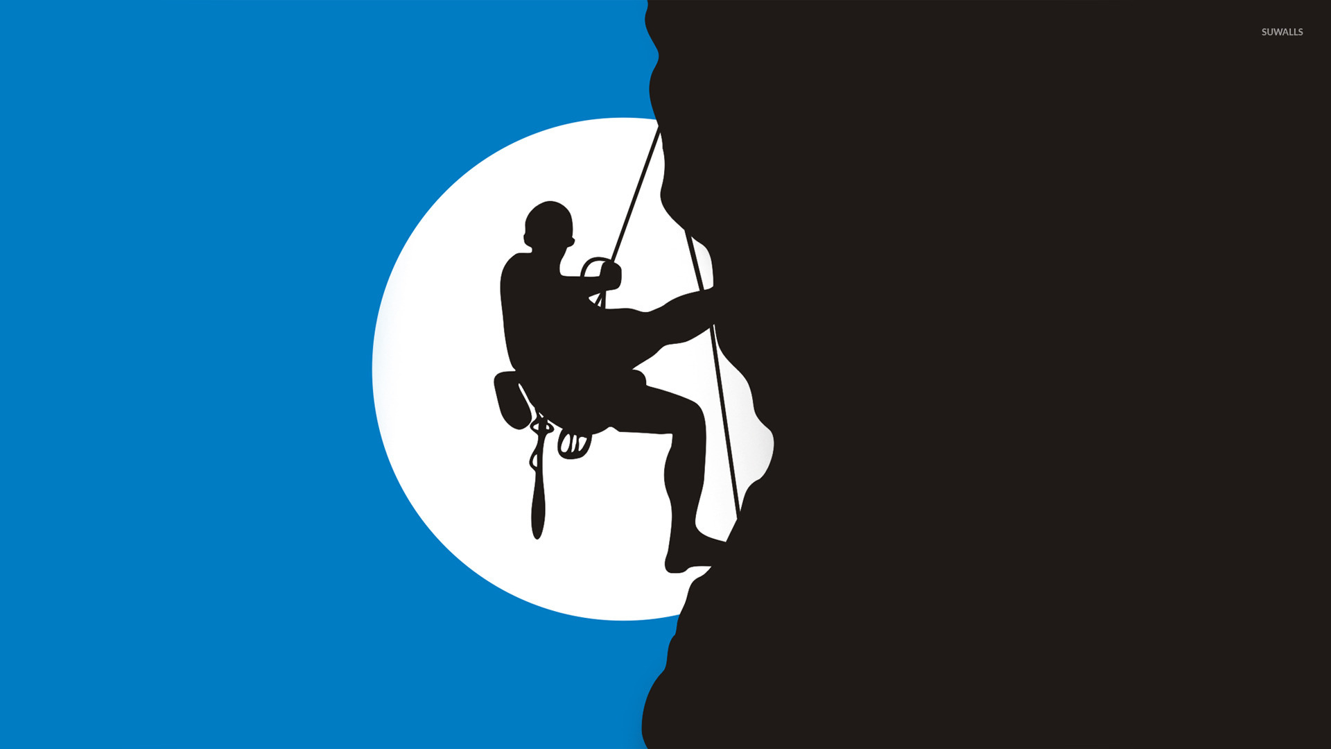 climber silhouette wallpaper vector wallpapers 20110