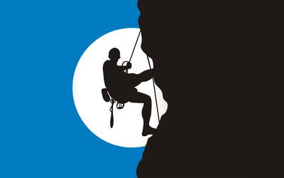 Climber silhouette wallpaper