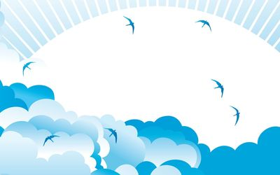 Clouds and birds wallpaper