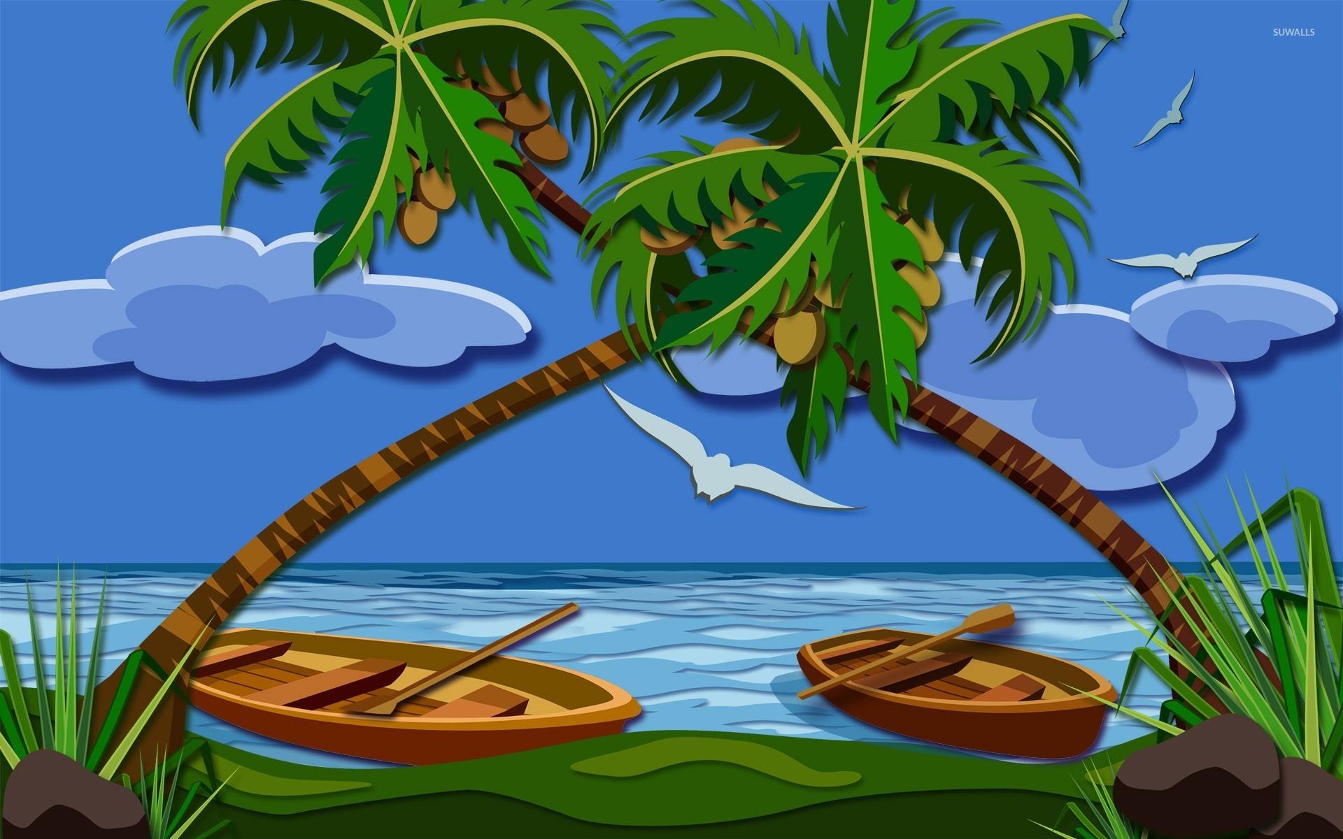 Coconut Trees 2 Wallpaper