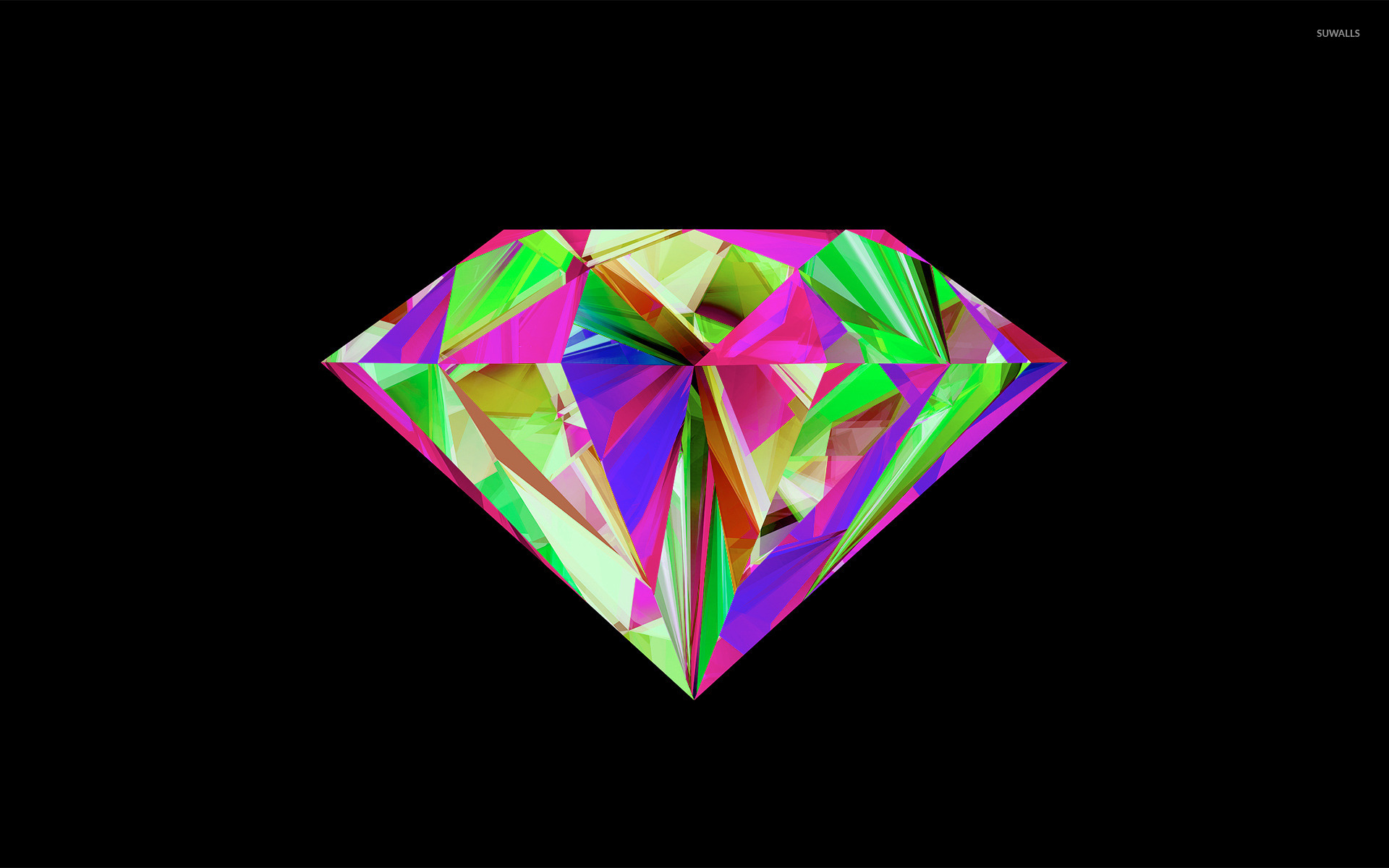 Colorful diamond wallpaper Vector wallpapers 31520