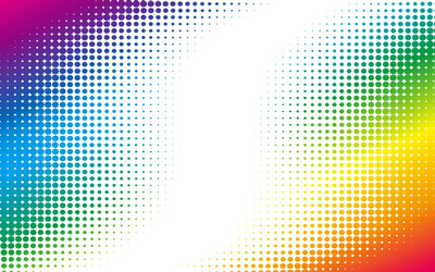 Colorful halftone dots wallpaper