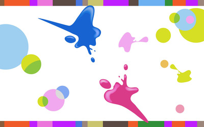 Colorful paint splashes and circles wallpaper